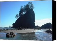 Second Beach Canvas Prints - Seastacks at Second Beach La Push Canvas Print by Kelly Manning
