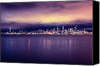 Puget Sound Canvas Prints - Seattle From Alki Canvas Print by Tanya Harrison