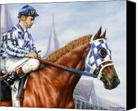Race Horse Posters Canvas Prints - Secretariat at Churchill Canvas Print by Thomas Allen Pauly