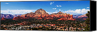 Mountain View Canvas Prints - Sedona Red Rock Canvas Print by Lisa  Spencer