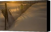 Sand Fences Canvas Prints - Shadows Canvas Print by Timothy Johnson