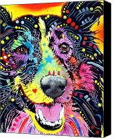 Animal Art Mixed Media Canvas Prints - Sheltie Canvas Print by Dean Russo