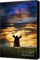 Humble Canvas Prints - Shepherd Arms Up in Praise Canvas Print by Jill Battaglia