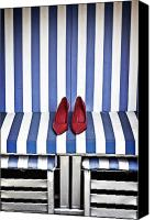 Maritime Canvas Prints - Shoes In A Beach Chair Canvas Print by Joana Kruse