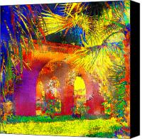 Palm Trees Mixed Media Canvas Prints - Simi Arches Canvas Print by Chuck Staley