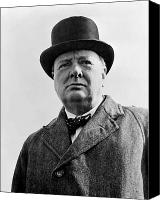 Patriotic Canvas Prints - Sir Winston Churchill Canvas Print by War Is Hell Store
