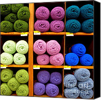 Ranjini Kandasamy Canvas Prints - Skeins of Wool Canvas Print by Ranjini Kandasamy