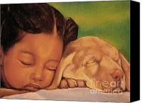 Girls Pastels Canvas Prints - Sleeping Beauties Canvas Print by Curtis James
