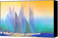 Diversity Digital Art Canvas Prints - Smooth Sailing Canvas Print by Mathilde Vhargon