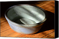 American Pottery Ceramics Canvas Prints - Snickerhaus Pottery-Small Bowl Canvas Print by Christine Belt