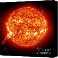 Chromosphere Canvas Prints - Solar Prominence Canvas Print by NASA / Science Source