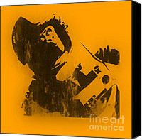 Monkey Canvas Prints - Space Ape Canvas Print by Pixel Chimp