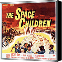 1950s Poster Art Canvas Prints - Space Children, Poster Art, 1958 Canvas Print by Everett