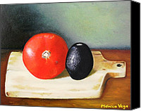 Hyperrealism Canvas Prints - Spanish Still Life Canvas Print by Monica  Vega