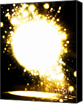 Fireworks Digital Art Canvas Prints - Sphere Lighting Canvas Print by Setsiri Silapasuwanchai
