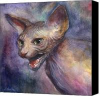 Austin Pet Artist Canvas Prints - Sphynx Cat Painting Canvas Print by Svetlana Novikova