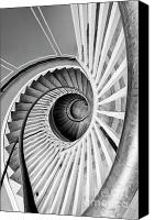Spiral Staircase Canvas Prints - Spiral Staircase Lowndes Grove Canvas Print by Dustin K Ryan