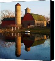Lake Geneva Wisconsin Canvas Prints - Spring B Farm Canvas Print by Deborah Fischer