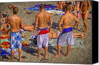 Tanning Canvas Prints - Spring Break Canvas Print by Debra and Dave Vanderlaan