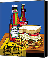 Beer Canvas Prints - Steel life Canvas Print by Ron Magnes