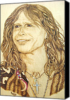 Roger Storey Canvas Prints - Steven Tyler Canvas Print by Roger Storey