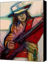Regina Brandt Canvas Prints - Stevie Ray Vaughan Canvas Print by Regina Brandt