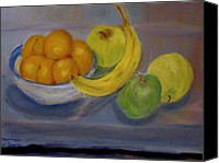 Still Life Pastels Canvas Prints - Still Life Canvas Print by Marilyn Campbell