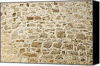 Abstract Building Canvas Prints - Stone Wall Canvas Print by Matthias Hauser