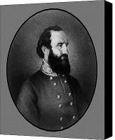 Thomas Canvas Prints - Stonewall Jackson Canvas Print by War Is Hell Store