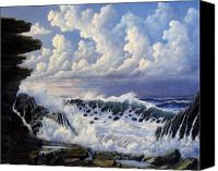 Beaches Reliefs Canvas Prints - Storm Approach Canvas Print by John Cocoris