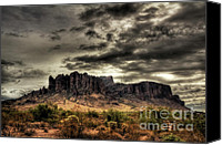 The Superstitions Canvas Prints - Stormy Morning  Canvas Print by Saija  Lehtonen
