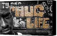 2pac Canvas Prints - Street Phenomenon 2Pac Canvas Print by The DigArtisT