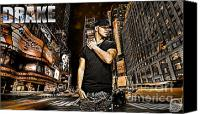 D77 Canvas Prints - Street Phenomenon Drake Canvas Print by The DigArtisT