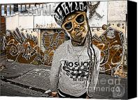 D77 Canvas Prints - Street Phenomenon Lil Wayne Canvas Print by The DigArtisT