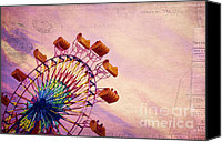 Roundabout Canvas Prints - Summer Fun Canvas Print by Darren Fisher