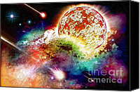 All Star Digital Art Canvas Prints - Sun Of The Nebula Canvas Print by Dirk Czarnota