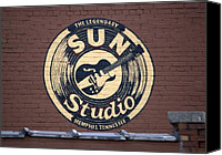 Johnny Cash Canvas Prints - Sun Studio Memphis Tennessee Canvas Print by Wayne Higgs