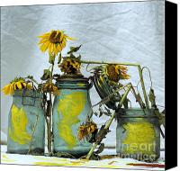 Ups Canvas Prints - Sunflowers .Helianthus annuus Canvas Print by Bernard Jaubert