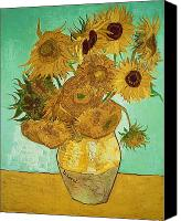 Vase Canvas Prints - Sunflowers Canvas Print by Vincent Van Gogh