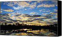 Daybreak Canvas Prints - Sunrise at the Summit Canvas Print by Melanie Moraga