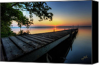 Water Canvas Prints - Sunrise over Cayuga Lake Canvas Print by Everet Regal