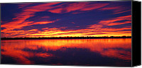 Loveland Canvas Prints - Sunrise over Lake Loveland Canvas Print by Billie Colson