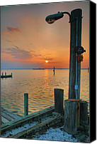 Chincoteague Canvas Prints - Sunset Bay III Canvas Print by Steven Ainsworth