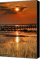 Chincoteague Canvas Prints - Sunset Bay IV Canvas Print by Steven Ainsworth