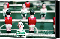 Miniatures Canvas Prints - Table soccer Canvas Print by Gaspar Avila