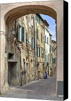 Old Houses Canvas Prints - Taggia in Liguria Canvas Print by Joana Kruse