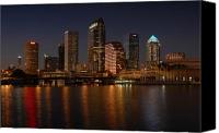 Tampa Bay Florida Canvas Prints - Tampa Florida  Canvas Print by David Lee Thompson
