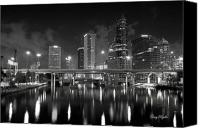 Tampa Canvas Prints - Tampa Skyline Canvas Print by Gary Bydlo