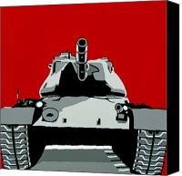 Iraq Canvas Prints - Tank U Very Much Canvas Print by Slade Roberts
