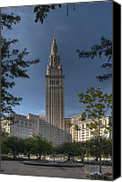 Public Square Canvas Prints - Terminal Tower Canvas Print by At Lands End Photography